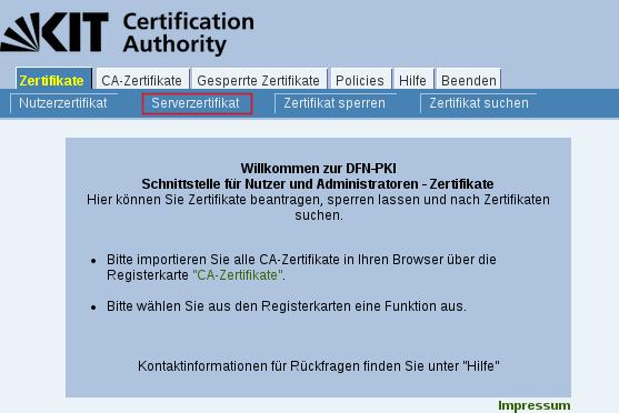 KIT - SCC - CA - Serverzertifikat - Requests mit Windows Bordmitteln